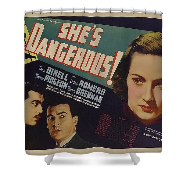 She's Dangerous 1937 Shower Curtain