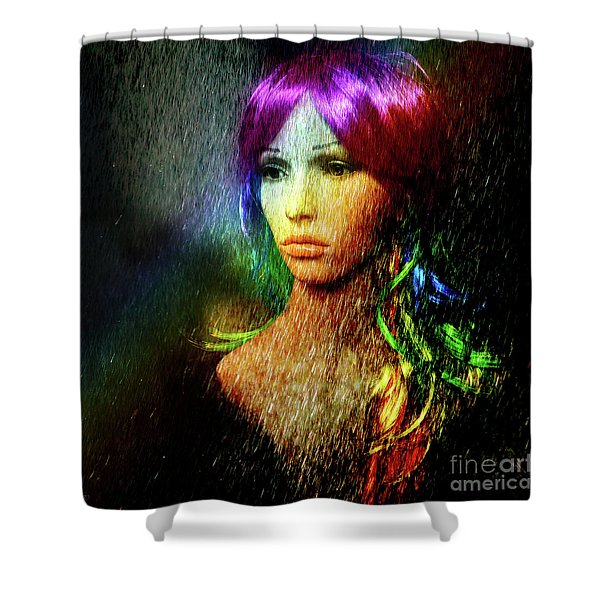 She's Like A Rainbow Shower Curtain