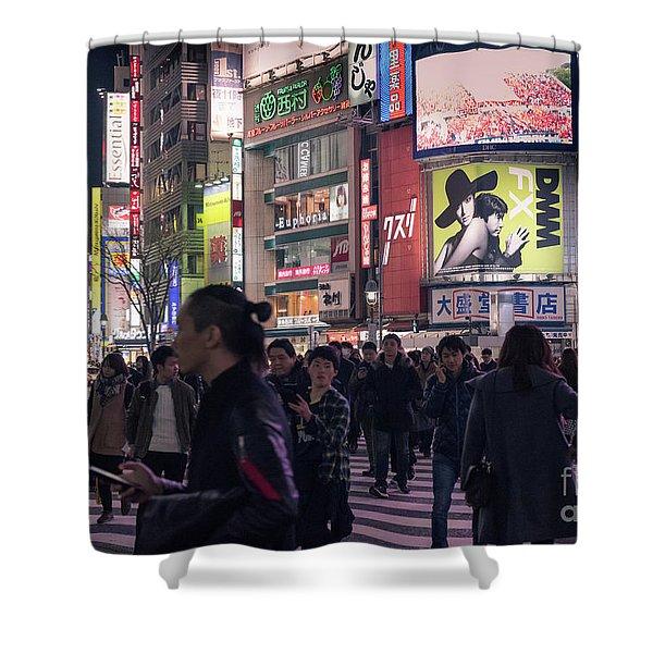 Shibuya Crossing, Tokyo Japan 3 Shower Curtain