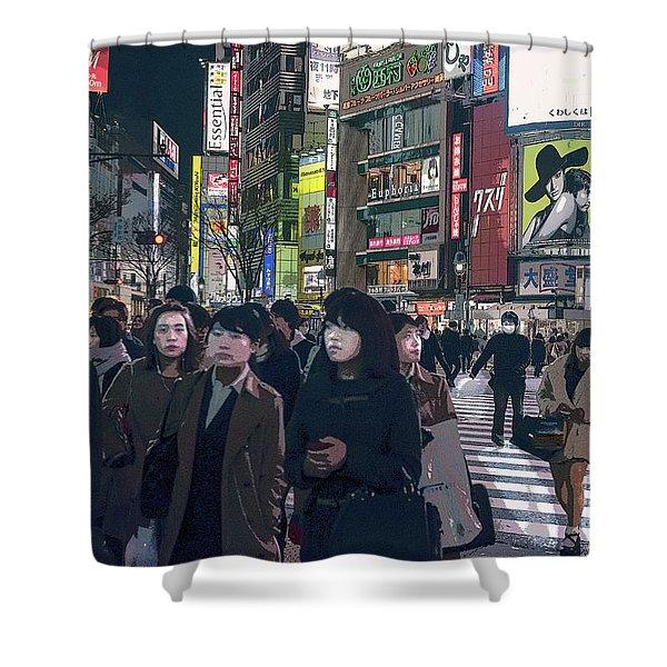 Shibuya Crossing, Tokyo Japan Poster 2 Shower Curtain