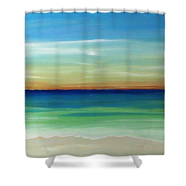 Shimmering Sunset Shower Curtain