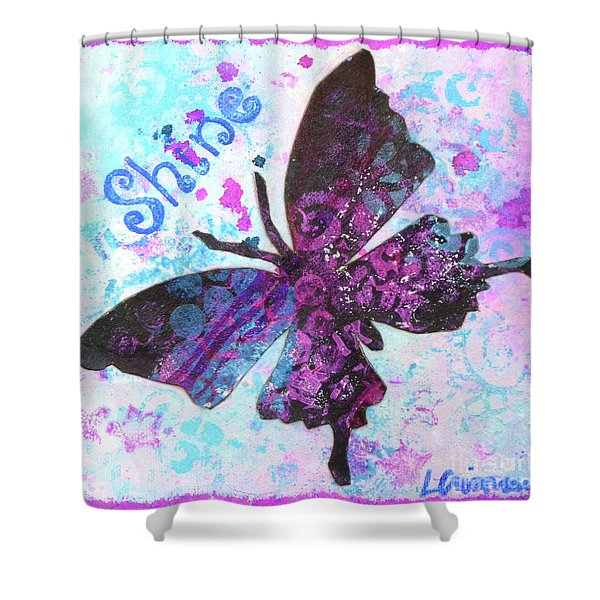 Shine Butterfly Shower Curtain