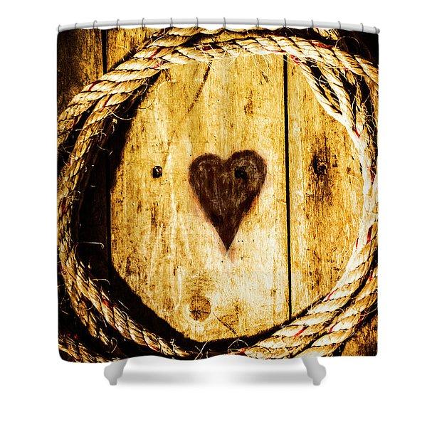 Ship Shape Heart Shower Curtain