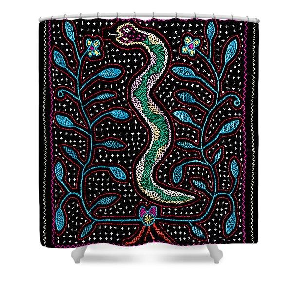 Shipibo Art Shower Curtain