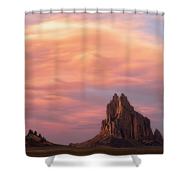 Shiprock At Sunset Shower Curtain
