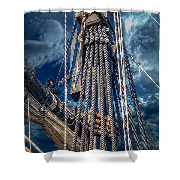 Ships Mast Shower Curtain