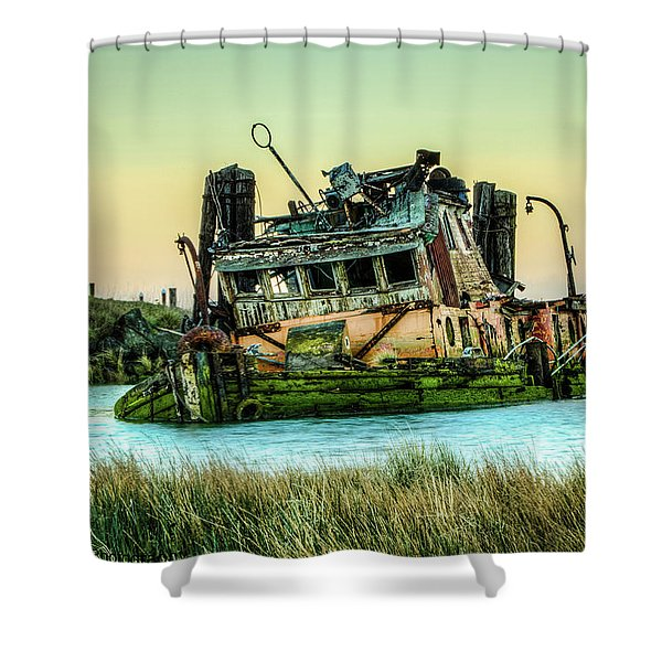 Shipwreck - Mary D. Hume Shower Curtain