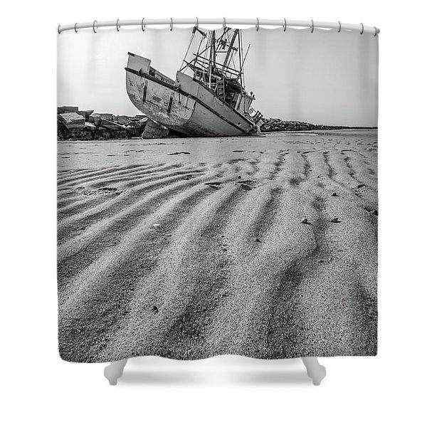 Shipwreck Provincetown Shower Curtain