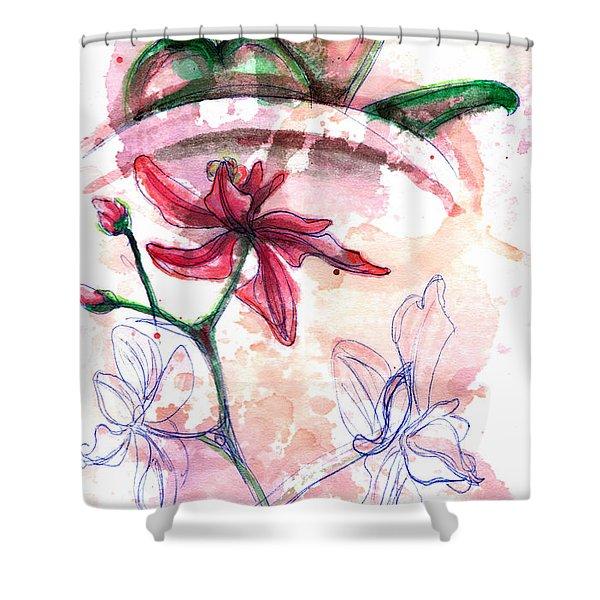 Shiraz Orchid II Shower Curtain