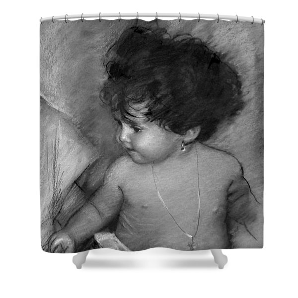 Shirtless Baby Shower Curtain