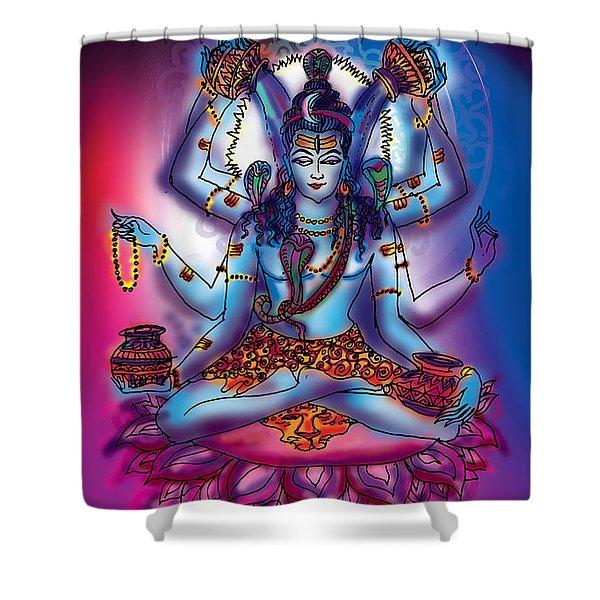Shiva Abhishek  Shower Curtain