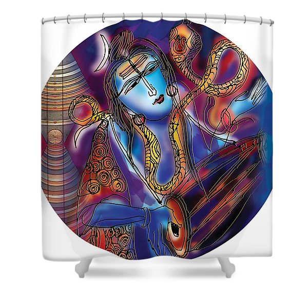 Shiva Playing The Drums Shower Curtain