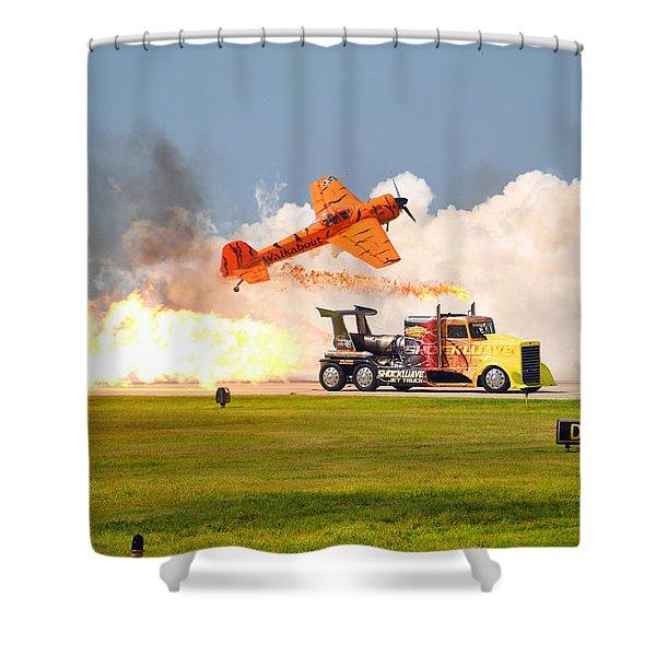Jet Truck Shower Curtain