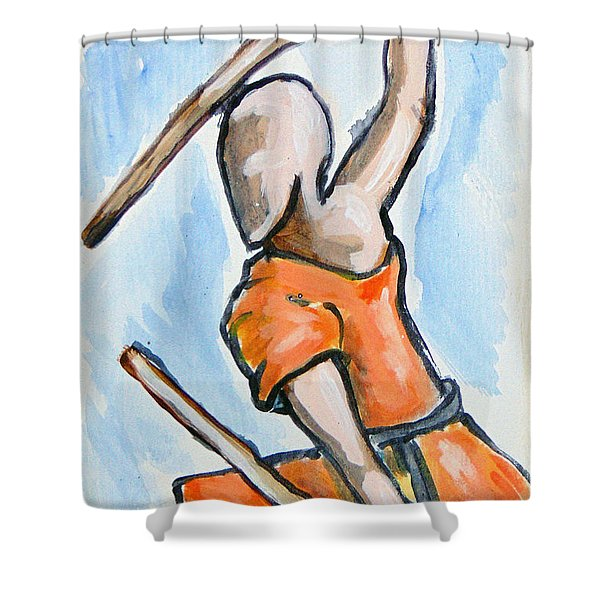 Sholin Monk Shower Curtain