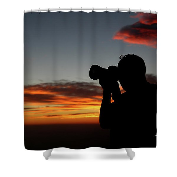 Shoot The Burning Sky Shower Curtain