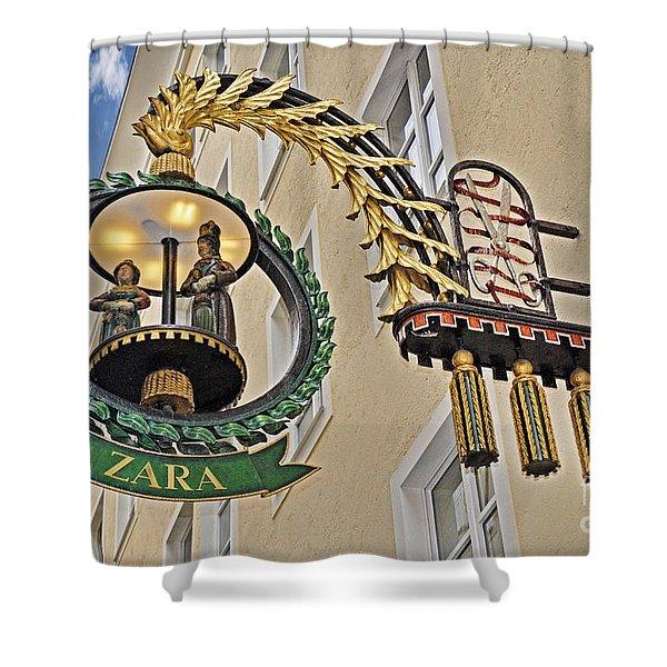 Shopping In Style In Salzburg  Shower Curtain