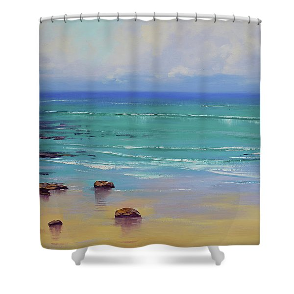 Shoreline Colors Shower Curtain