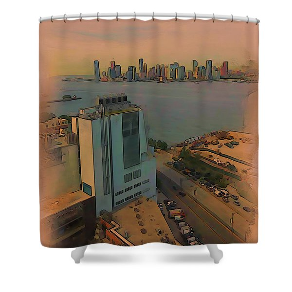 Shower Curtain featuring the digital art Shoreline by Tristan Armstrong