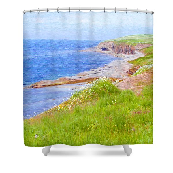 Shores Of Newfoundland Shower Curtain by Jeff Kolker