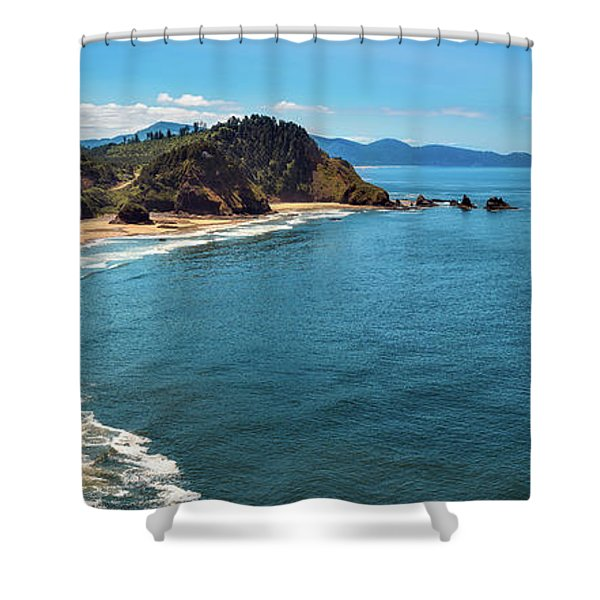 Short Beach, Oregon Shower Curtain