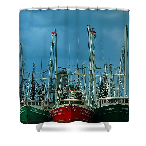 Shrimpers Shower Curtain