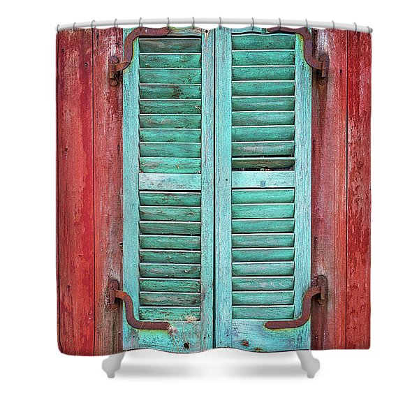 Old Barn Window - Shuttered Shower Curtain