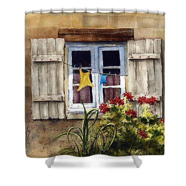 Shutters Shower Curtain