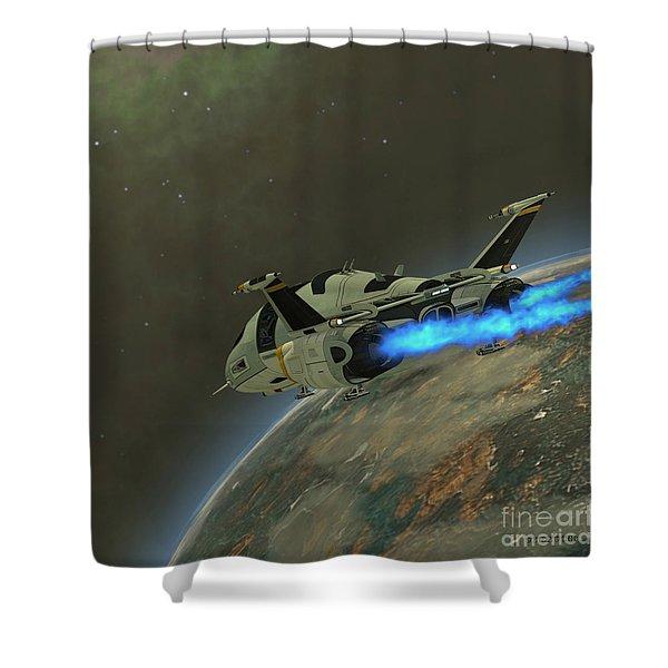 Shuttlestar Transport Shower Curtain