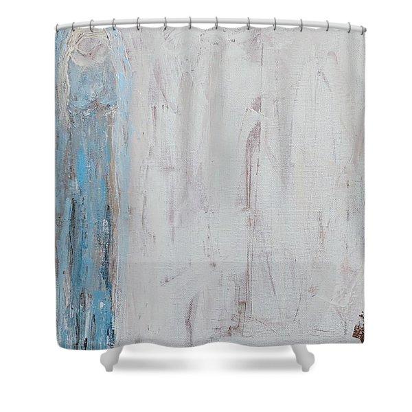 Shy Angel Shower Curtain