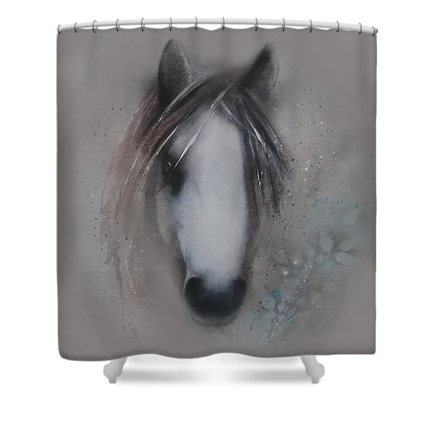 Shy Wisdom Shower Curtain