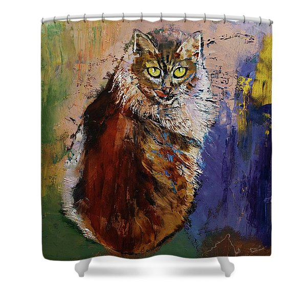 Siberian Cat Shower Curtain