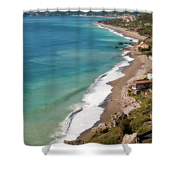 Shower Curtain featuring the photograph Sicilian Sea Sound by Silva Wischeropp