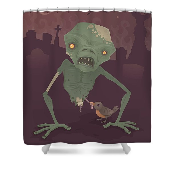 Sickly Zombie Shower Curtain