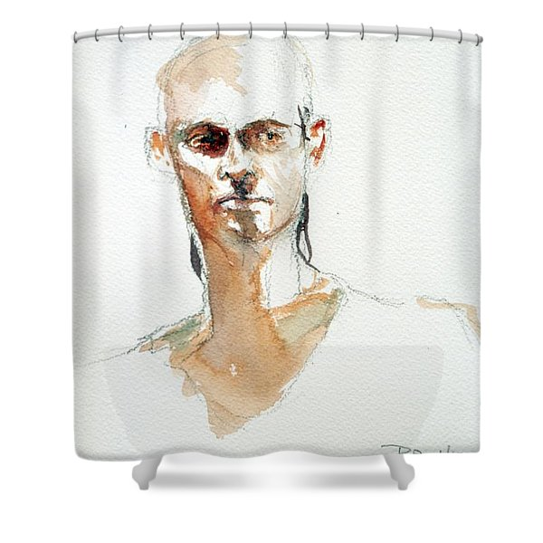 Side Glance Shower Curtain