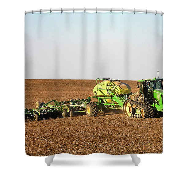 Side Hill Seeding Shower Curtain