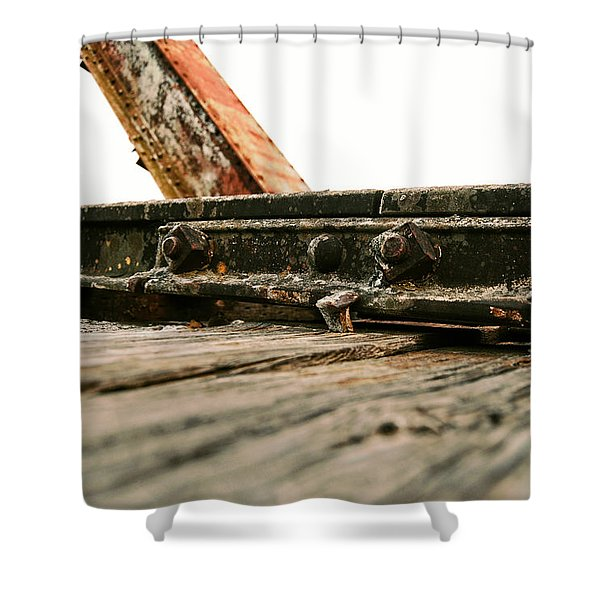 Side Of Rail #photography #trains Shower Curtain