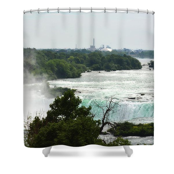 Sideview Mist Shower Curtain