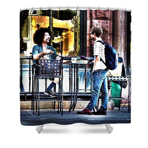 048 - Sidewalk Cafe Shower Curtain