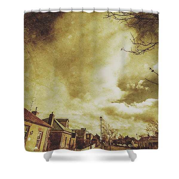 Sidewalks And Paper Villages Shower Curtain
