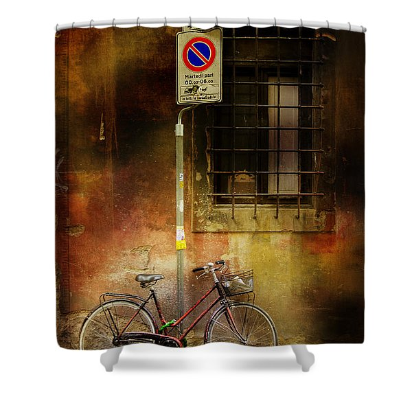 Siena Bicycle Shower Curtain