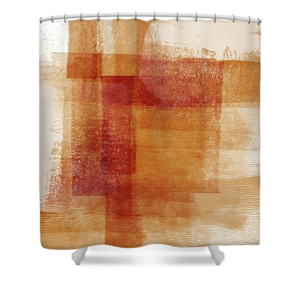 Sienna 2- Abstract Art By Linda Woods Shower Curtain