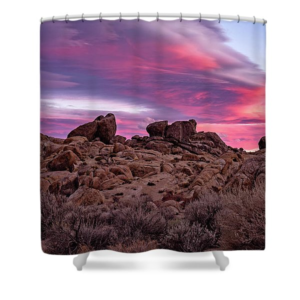 Sierra Clouds At Sunset Shower Curtain