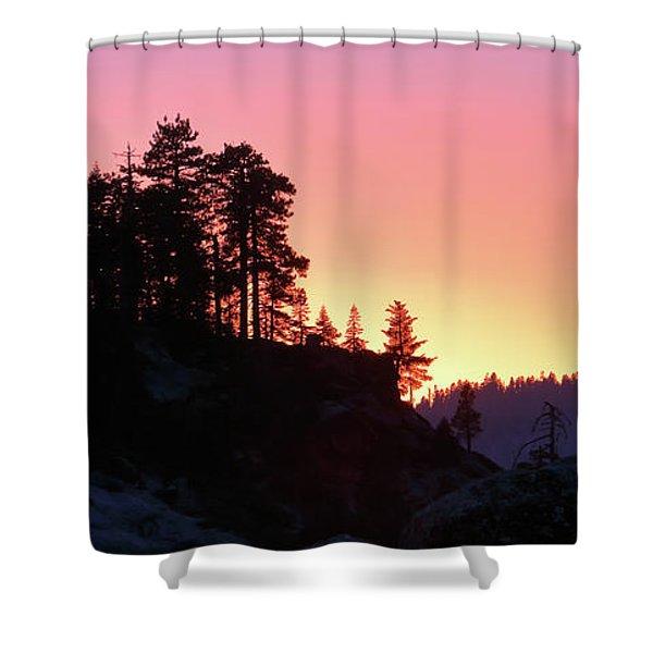 Sierra Nevada Dusk Shower Curtain