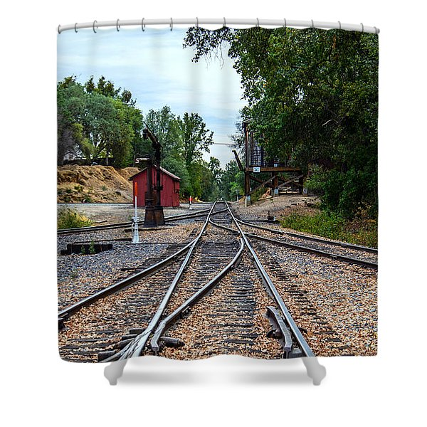 Sierra Railway Shower Curtain