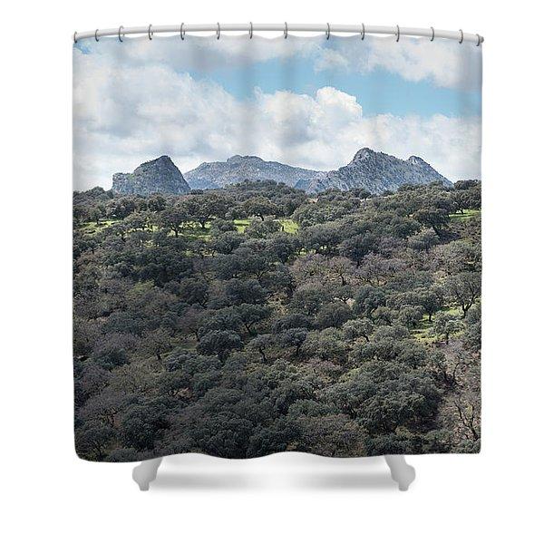 Sierra Ronda, Andalucia Spain Shower Curtain