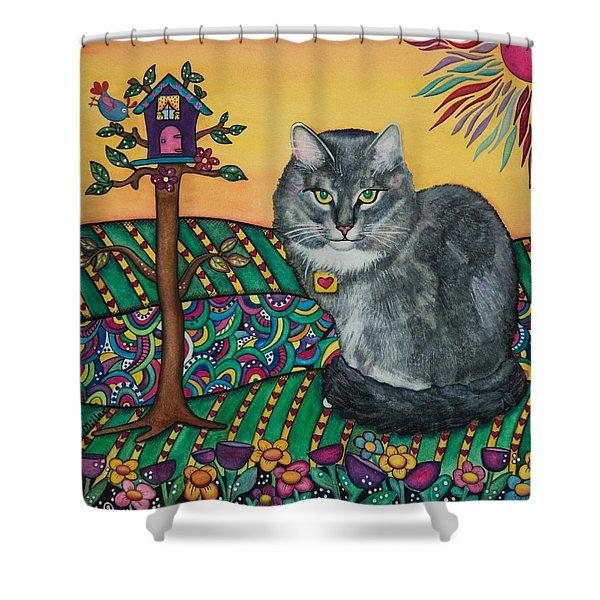 Sierra The Beloved Cat Shower Curtain