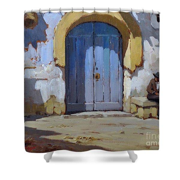 Siesta Time In Naples Shower Curtain