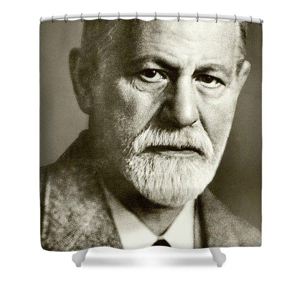 Sigmund Freud The Founder Of Psychoanalysis Shower Curtain