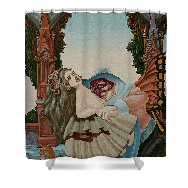 Sigmund Freud With A Fox Shower Curtain