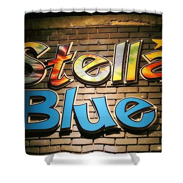 Sign Of Stella Blue Shower Curtain
